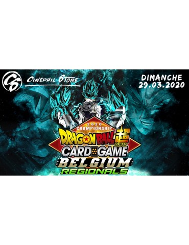 Dragon Ball Super Card Game - Inscription Regional Belgique 2020