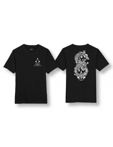 Assassin's Creed Valhalla T-Shirt Woodcut Dragon