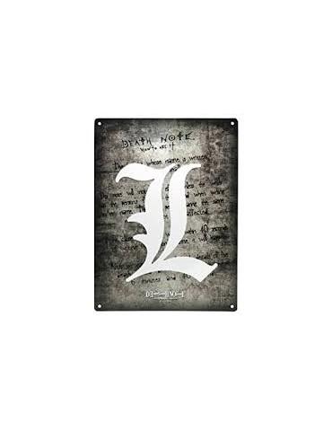 Plaque Metal 28x38cm - Death Note L