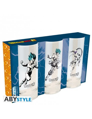 DRAGON BALL SUPER - Set de 3 verres