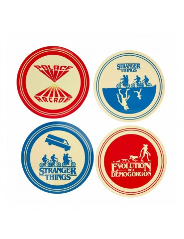 Stranger Things pack 4 plaques Silhouette
