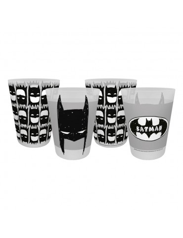 Batman - pack 4 gobelets- DC Comics